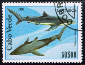 Cape Verde ~ #415 ~ Sharks ~ Used CTO