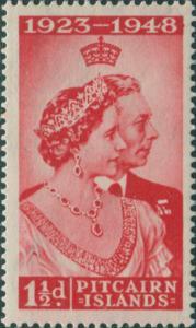 Pitcairn Islands 1949 SG11 1½d KGVI and QE MLH