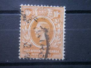 EAST AFRICA AND UGANDA PROTECTORATES, 1912, used 10p, King George VI, Scott 43