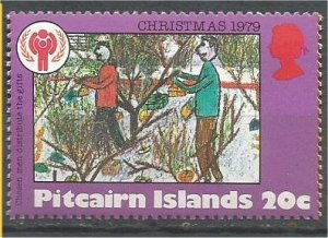 PITCAIRN ISLANDS, 1979, MNH 20c, Christmas and IYC Scott 190