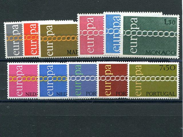Europa 1971 selection with Portugal  Mint VF NH