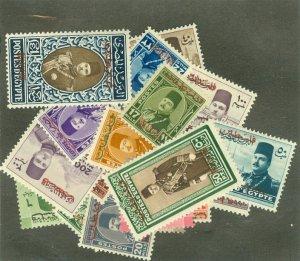 Egypt N1-14, N16-19A mint a few small thins cV $110.90