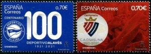 HERRICKSTAMP NEW ISSUES SPAIN Osasuna & Alaves Soccer Clubs