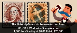 The 181th HipStamp No Reserve Auction Event