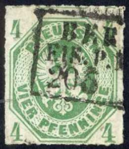 Germany Prussia Sc# 15 Used 1861-1867 4pf Coat of Arms