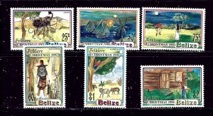 Belize 979-84 MLH 1991 Christmas