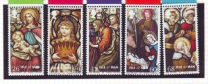 Isle of Man  Sc 1128-32 2005 Christmas stamp set mint NH