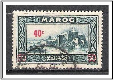 French Morocco #148 Kasbah Surcharged Used