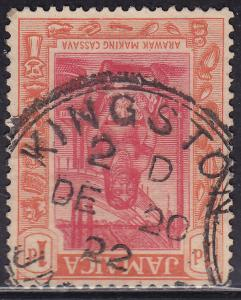 Jamaica 76 Used 1921 Arawak Woman Making Cassava 1d CDS
