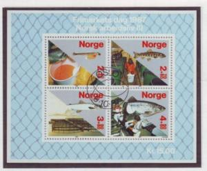 Norway Sc B70 1987 Salmon Industry stamp sheet used