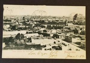 1906 Montevideo Uruguay Denver Colorado USA Reducto Scenic RPPC Postcard Cover
