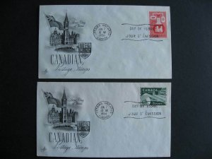 Canada Artcraft FDC First day covers Sc 362-363 check them out!
