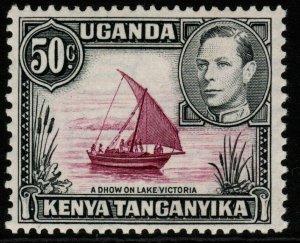 KENYA, UGANDA & TANGANYIKA SG144d 1949 50c REDDISH PURPLE & BLACK MTD MINT
