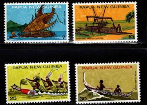 PNG Papua New Guinea Scott 406-409 MNH** ship set