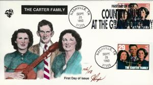 Beautiful Pugh Designed and Painted FDC Carter Family  #106 of 0nly 118