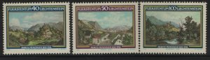LIECHTENSTEIN, 744-746, (3) SET,  MNH, 1982 Landscapes