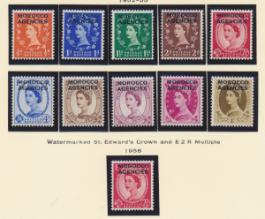 Great Britain, Offices In Morocco Stamps Scott #270 To 280, Mint Hinged - Fre...