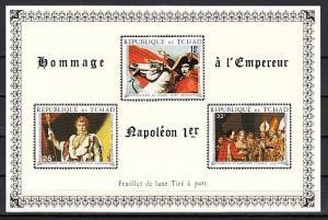 Chad, Scott cat. C63 B. Napoleon Bonaparte Deluxe s/sheet. ^