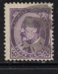 Canada Sc 95 1905 50c Edward VII stamp used