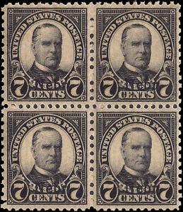 676 Mint,OG,NH... Block of 4... SCV $180.00