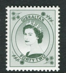 GIBRALTAR; Early QEII 1960s issue MINT MNH unmounted Trial/Cynder. 42d. value