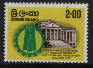 SRI LANKA, 560, HINGED, 1979 Family in Cogwheel, Parliament