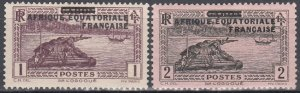 French Equatorial Africa, SW1-2, MH, 1936, Barges