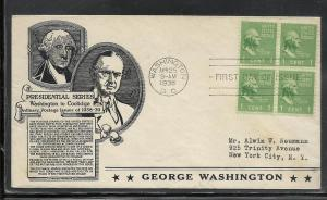 US #804-50a Washington Anderson cachet addressed