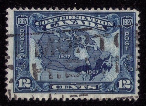 CANADA Sc 145 Map Of Canada Used F-VF