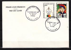 Cameroun, Scott cat. C293-C294. 4th Scout Conference. Plain First Day Cover.