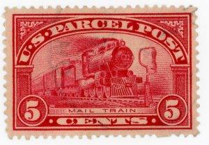 #Q5 – 1913 5c Parcel Post Stamp.  Used light cancel.