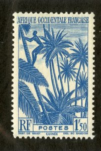 FRENCH WEST AFRICA 44 MNH SCV $2.00 BIN $1.00 PALM TREES