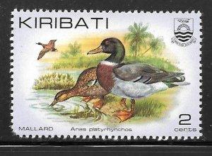 Kiribati 385: 2c Mallard (Anas platyrhynchos), MH, VF