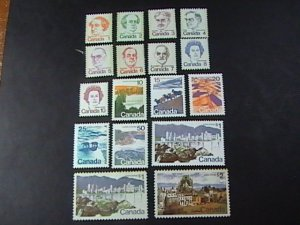 CANADA # 586 - 601-MINT NEVER/HINGED---COMPLETE SET----1972-76