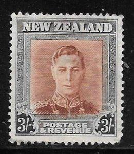 New Zealand 268: 3/- George VI, used, F-VF