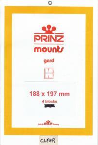 PRINZ CLEAR MOUNTS 188X197 (4) RETAIL PRICE $10.50