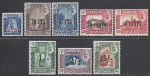 Aden-Kathiri State of Seiyun #20-27 1951 Mint LH