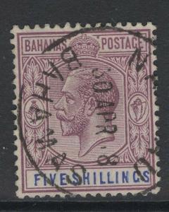 BAHAMAS SG88 1912 5/= DULL PURPLE & BLUE USED