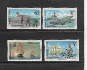 CHILE #1073-1076  1993  VAVAL ANNIVERSIES      MINT VF NH  O.G