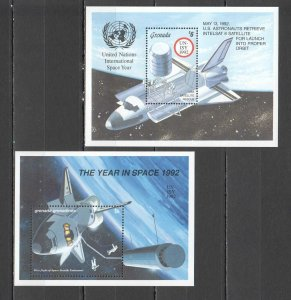 QE0286 1992 GRENADA INTERNATIONAL SPACE YEAR 2BL MNH
