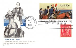 United States, Georgia, First Day Cover, United States Government Postal Card...