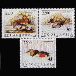 YUGOSLAVIA 1989 - Scott# 1951b-d WWF-Ducks 2100-2200d NH