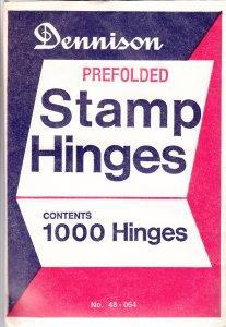Dennison Prefolded Stamp Hinges, Unopened (S18604)