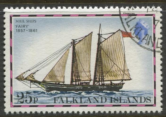 Falkland Is.- Scott 271 - Ships Issue - 1978 - VFU - Single 25p Stamp