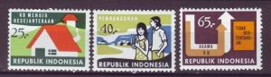 J21064 Jlstamps 1974 indonesia set mh #919-21 designs