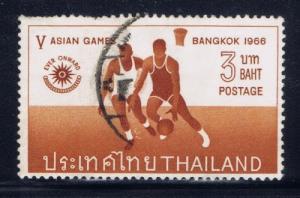 Thailand 448 Used 1966 Basketball