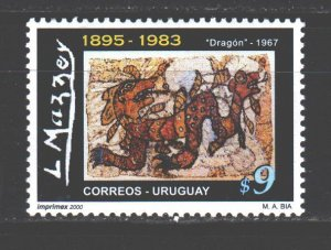 Uruguay. 2001. 2590. paintings painting. MNH.