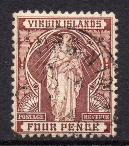 Virgin Islands 1899 4d brown SG 46 used