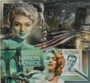 Burundi MNH S/S 1178 Marilyn Monroe 2012 Imperf.
