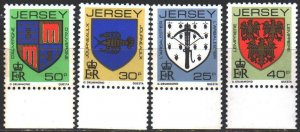 Jersey. 1982. 273A-76A from the series. Coats of arms. MNH.